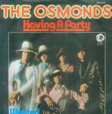 """7"""" Osmonds/Having A Party (D)"""