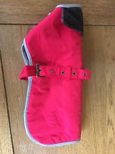 Red barbour Waterproof Dog Coat small