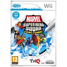 Nintendo Wii Game Marvel Super Hero Squad Comic Combat Niños Diversión 12+ Udraw