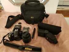 Nikon D3100 Digital SLR Black Camera Kit w/AF-S DX VR 18-55mm Lens Full Set