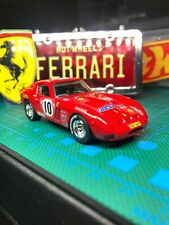 🔴Hot Wheels 2009 Custom Ferrari Racing 250 GTO With Real Riders'Red