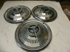1964 Ford Fairlane Sports Coupe Vintage Factory Oem Hubcap Wheel Covers Lot Of 3