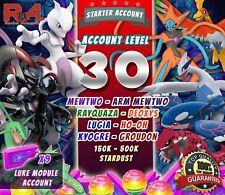 Pokemon account Go LVL 30 - Mewtwo Lugia HoOh Kyogre Groudon - Legendary Pokemon