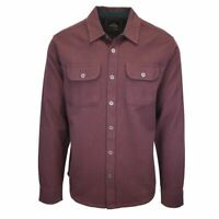 prAna Men's Maroon Chevron L/S Flannel Shirt (S27)