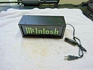 OLD SCHOOL MCINTOSH LOGO LIGHTED SIGN SHIPPED FROM THE U.S.A. FREE SHIPPING