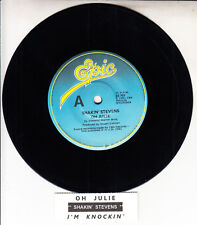 "SHAKIN' STEVENS  Oh Julie 7"" 45 rpm vinyl record + juke box title strip"