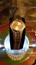ladies casio shenn silver bracelet watch.bronze color face,every day watch.#b1.