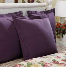 Ralph Lauren SURREY GARDEN European pillow Sham LINEN/COTTON Euro PURPLE twill