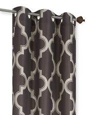 New Geometric Design Blackout Lined Window Curtain Grommet Panel/Valance MOZA