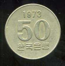 COREE DU SUD  50 won  1973  ( bis )