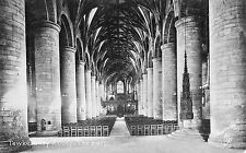 Gloucestershire - Tewkesbury Abbey, The Nave - Vintage Tuck's Postcard
