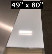 49 X 80 White Aluminum Sheet Flat 030 Thick Cargo Trailer Repair Etc