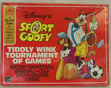 Vintage Golden 1984 Disney SPORT GOOFY Tiddly Wink Tournament of Games NEW