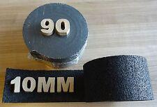 2000x90x10mm Gummi Rolle Abstandshalter Pad Terrassenunterlage Gummigranulat NEU