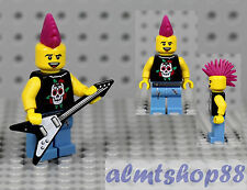 LEGO Series 4 - Punk Rocker Minifigure Guitar Mowhawk 8804 Rock Band Collectible