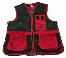 WINCHESTER RED & BLACK SKEET TRAP SHOOTING VEST - Sz LARGE ( 42 - 44 ) MENS