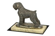 Black Russian Terrier - figurine with a dog on sandy marble, Art Dog Usa