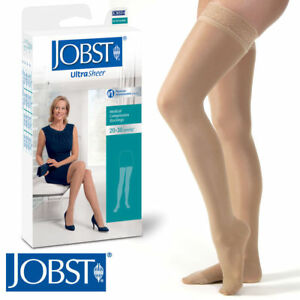 Jobst Womens UltraSheer Compression Thigh Stockings 20-30 mmhg Silicone Supports