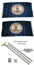 3x5 State of Virginia 2ply Flag Galvanized Pole Kit Top 3'x5'