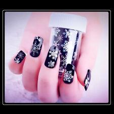 Hot 120cm White Snowflake Nail Art Sticker Nail Foils Christmas Design Manicure