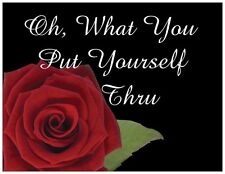 "Jail Prison Inmate Postcard ""Rose Flower"""