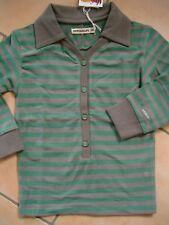 (X231) Imps & Elfs Baby Langarm Shirt Polokragen Knopfleiste Logo Aufnäher gr.98