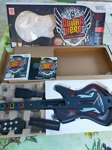 Guitar Hero Warriors of Rock - Nintendo Wii - Jeu + Guitare boite