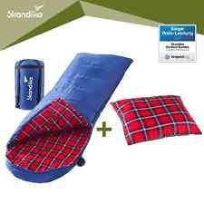 Skandika Dundee Decken-Schlafsack mit Sleepyhead-Kissen blau NEU