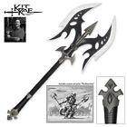 KIT RAE FULL SIZE BLACK LEGION BATTLE AXE Double Edge Viking Medieval Sword New