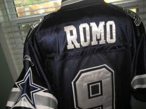 NFL AUTHENTIC DALLAS COWBOYS QB TONY ROMO # 9 BLUE JERSEY sz 52 STITCHED REEBOK