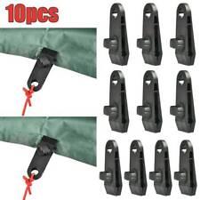 Dutsekk 6 Pcs Tarp Clips Plastic Lock Clip Awning Clamp Set for Camping,Tents,Tarp,Caravan,Black