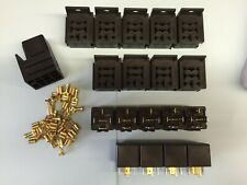10 x 30/40 Amp 5 Pin Changeover Relays including mounts & terminals