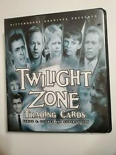 Twilight Zone Rittenhouse Series 4 Binder, rare with Autograph A79 + Promo Card