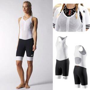 Adidas Ladies Cycling Shorts Seat Cushion Bib Tights Bike Trousers Suit Black/