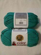 LION BRAND COLOR MADE EASY YARN, BULKY-5, IN MALACHITE, 2 Skeins