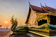 BEAUTIFUL BUDDHIST TEMPLE CANVAS PICTURE #270 STUNNING PHOTOGRAPHY A1 CANVAS