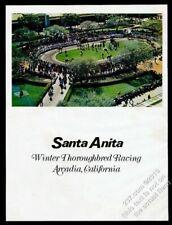 1972 Santa Anita racetrack horse race track color photo vintage print ad