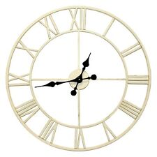 House of Durante The New Oxford Skeleton Wall Clock 60cm White Indoor & Outdoor