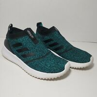 Adidas Size 8 Ultimafusion Womens Slip On Sneakers No Lace Teal / Black Shoe