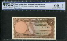 East Africa 1964, 5 Shillings, P45, PCGS 65 OPQ GEM UNC
