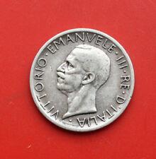 """Italien 5 Lire 1927-R Silver, Ss+-VF+, """"Emanuele III."""", #F1377"""