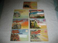 7 Souvenir picture Postcard Folder 1940s-50s Carolina Grand Canyon Smoky Park