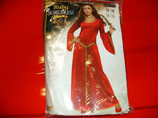 RUBY SORCERESS MEDIEVAL TIMES WITCH WOMEN HALLOWEEN COSTUME UP TO SIZE 14/16
