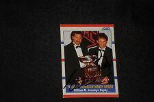 ANDY MOOG & REJEAN LEMELIN 1990-91 SCORE SIGNED AUTOGRAPHED CARD #365 BRUINS