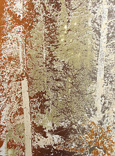 "Paula Crane ""Wild Basin"" Hand Signed Etching Art Print forest trees Make Offer"