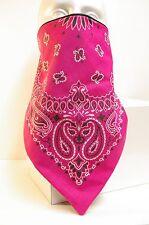 HOT Pink Paisley Lined Bandana face protector motorcycle mask