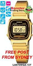 CASIO WATCH VINTAGE RETRO LADIES GOLD LA670WGA-1UR LA670WGA LA670