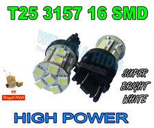 2 X P27/7W 3157 16 SMD ALTA POTENCIA LED Bombillas Xenón Blanco Color, *** vendedor de Reino Unido