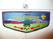 OA Langundowi Lodge 46,S-4,1980s Restricted Flap,CD,French Creek Council,Erie,PA