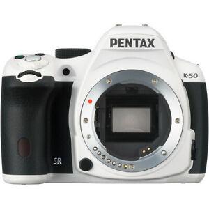 Pentax K-50 DSLR Camera Body Only - White